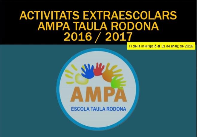 EXTRAESCOLARS TAULARODONA_2016-17