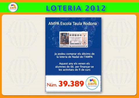 Avís Loteria Nadal 2012