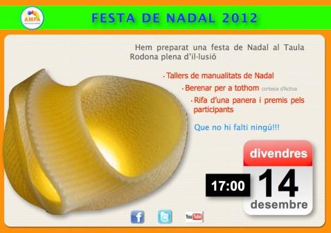 Avís Festa Nadal 2012