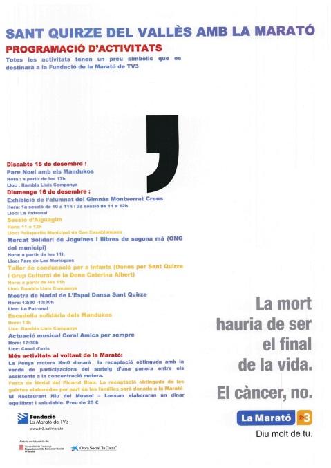 Cartell Marató TV3 2012