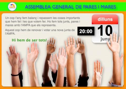Avís Assemblea juny 2013