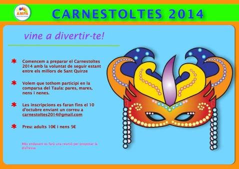 Avís inscripció Carnestoltes 2013