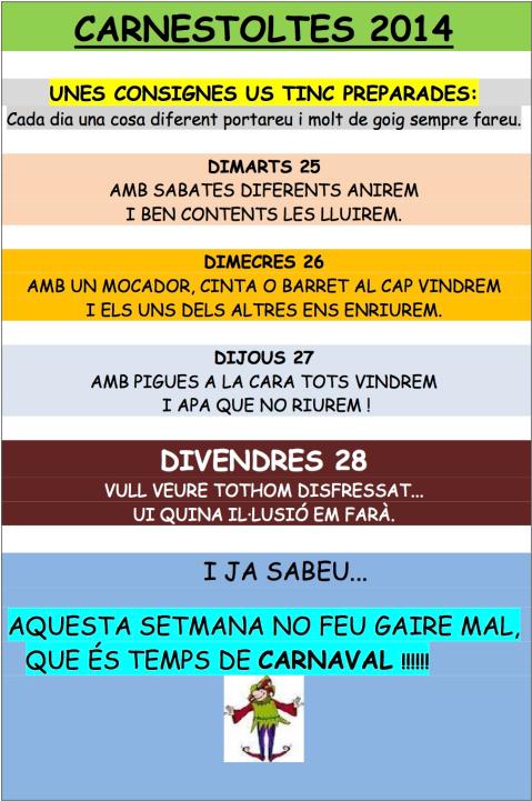 Consignes 2014