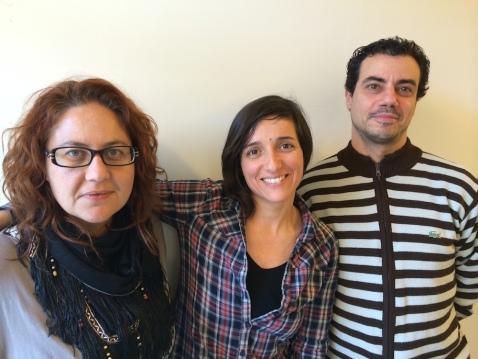 Beatriz Sánchez, Yolanda Villafaina i Ramon Corominas