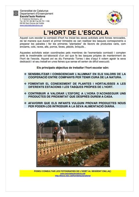 L'HORT A L'ESCOLA