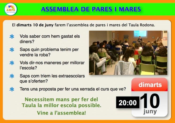 Avís assemblea 14 juny 2014