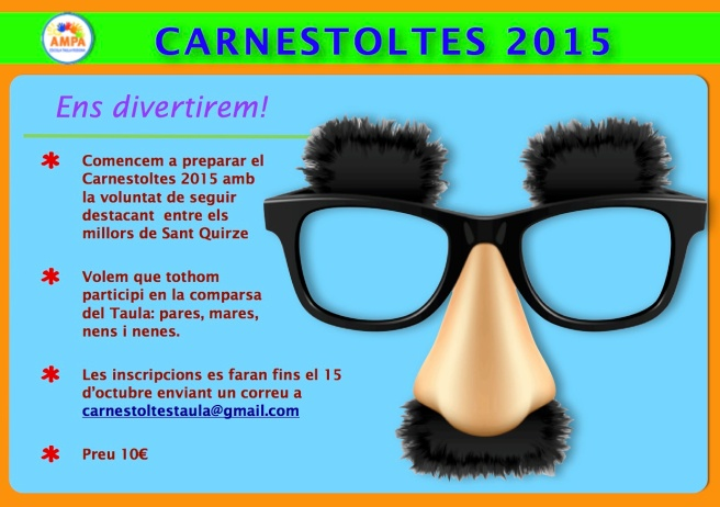 Avís inscripció Carnestoltes 2015