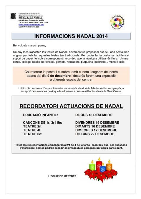 Col·laboració Pares NADAL 2014